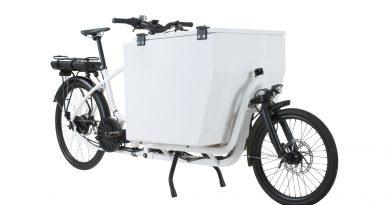 Dostava paketa z električnim tovornim kolesom