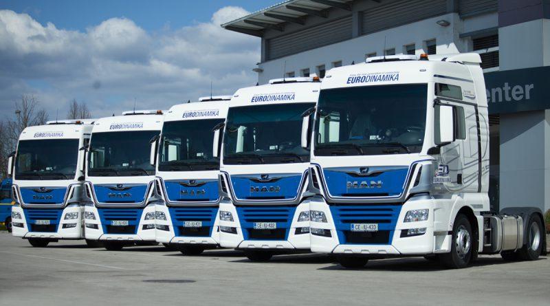 Pet novih vlačilcev MAN TGX za podjetje Eurodinamika